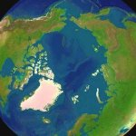 arctica north pole view form space