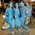 blue costumes
