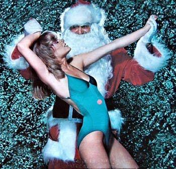dancing disco santa