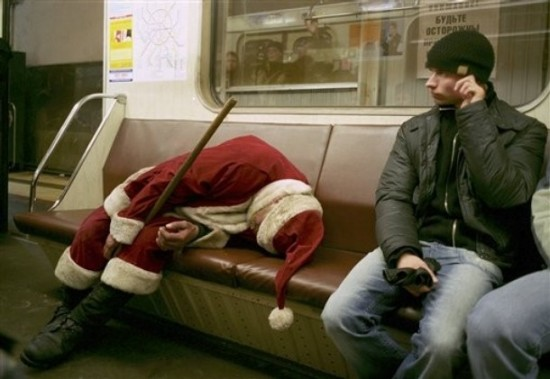 Very drunk Santa