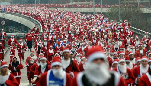 Another marathon santa picture
