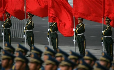 Chinese troops in N.Korea