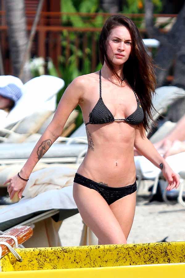 Megan Fox black bikini 1