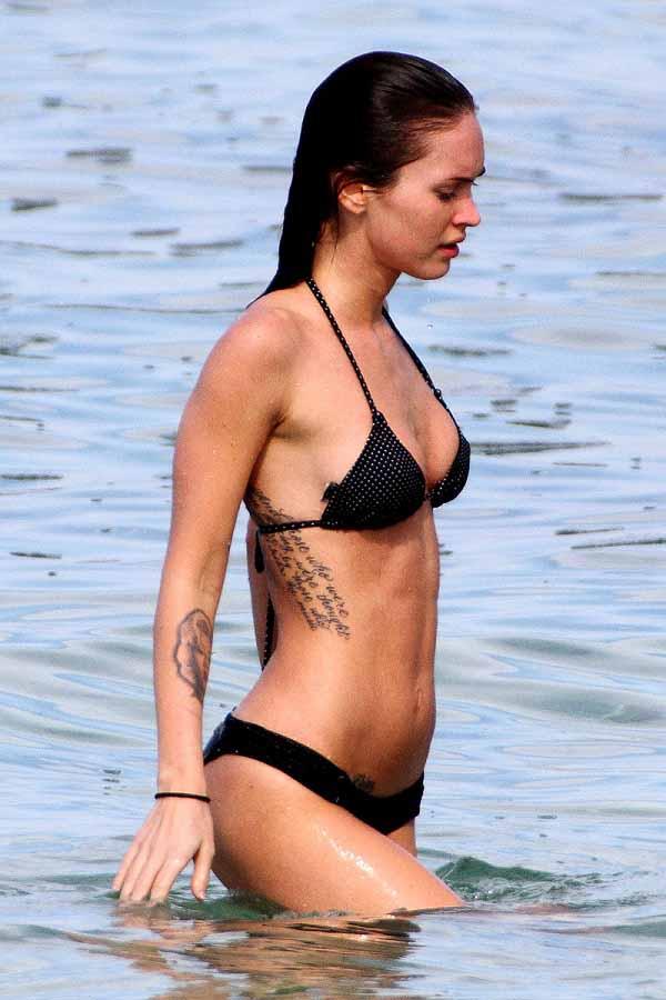 Megan Fox black bikini 3
