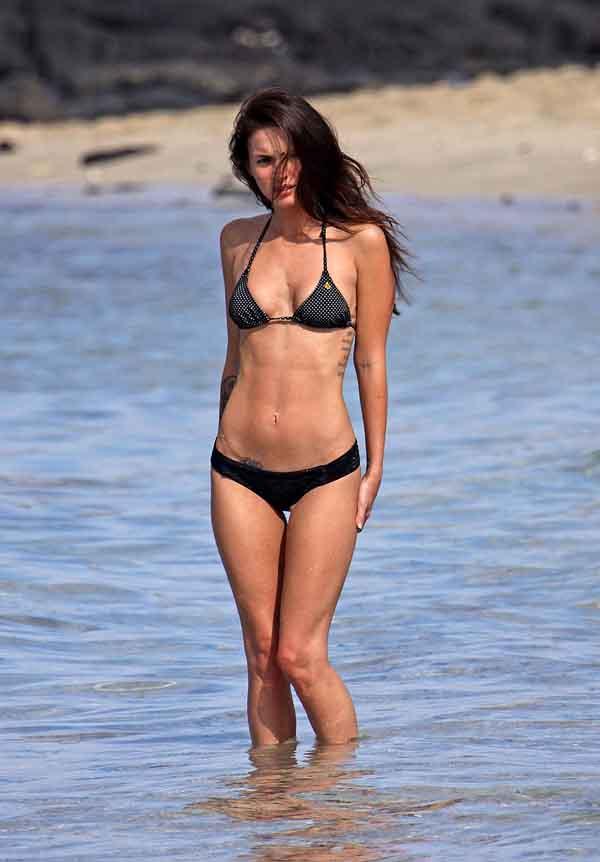 Megan Fox black bikini 5