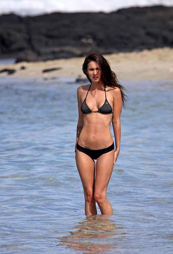 Megan Fox black bikini photos 6