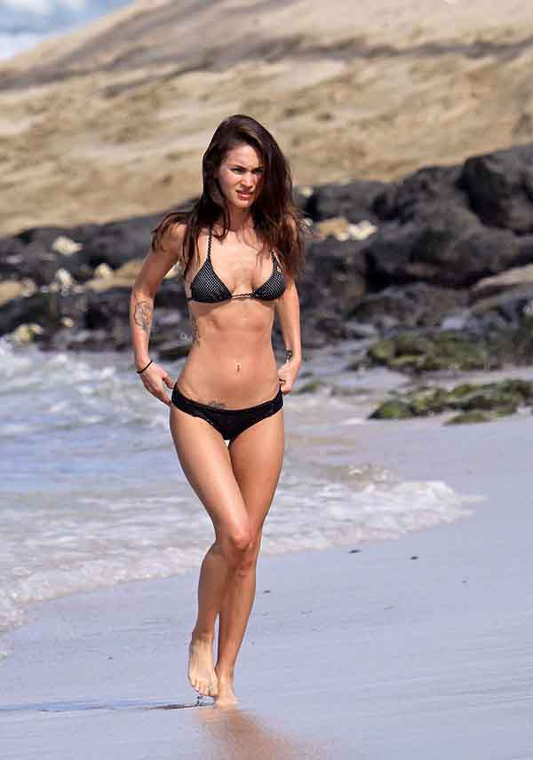 Megan Fox black bikini