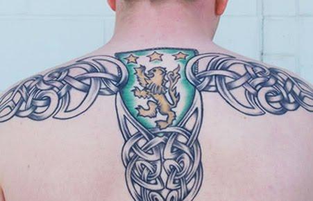 Celtic leo design tattoo