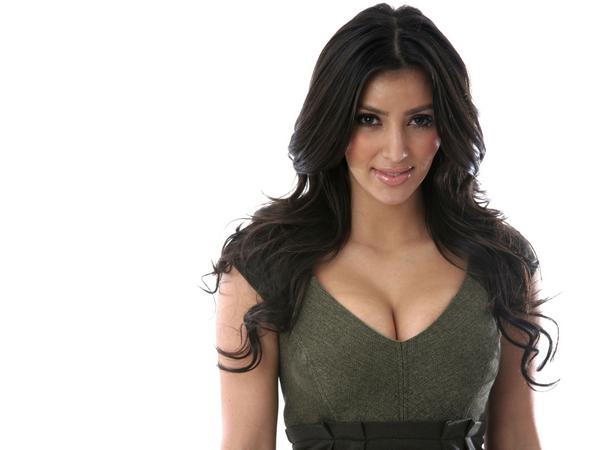 Kim Kardashian long black hair