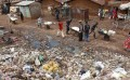 People is looking for goods on garbage wallpaper