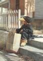 kid sits