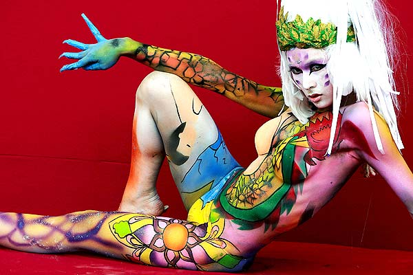 body painting festival sample design