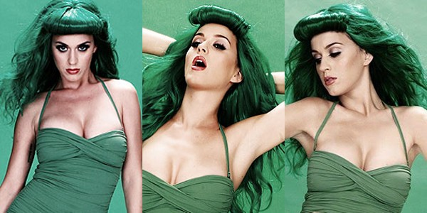 Katy Perry in green photo