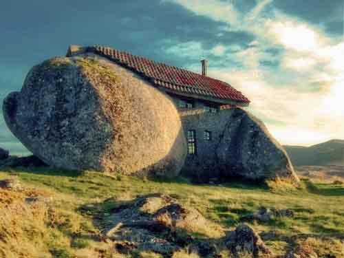 weird stone house