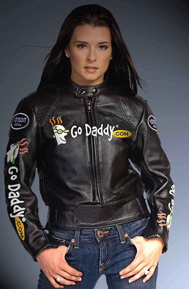 Godaddy cover face Danica Patrick