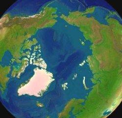 arctica north pole view form space